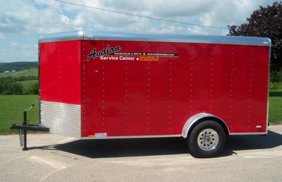6' x 12' Red V-Nose Cargo Trailer – Avalon Service Center Trailer Rental