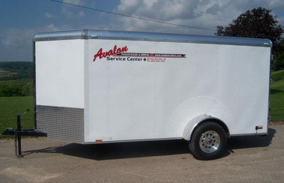 6' x 12' White V-Nose Cargo Trailer – Avalon Service Center Trailer Rental