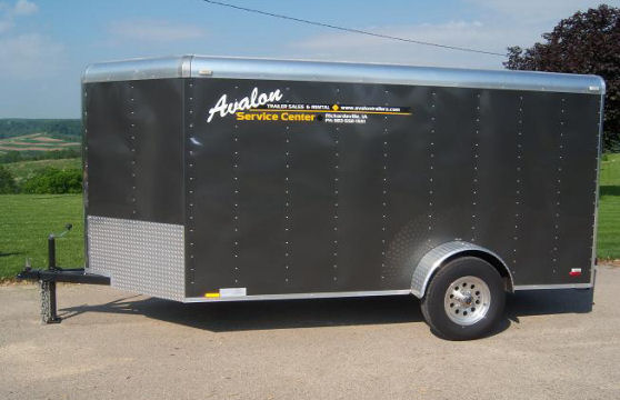 6' x 12' Charcoal V-Nose Cargo Trailer – Avalon Service Center Trailer Rental