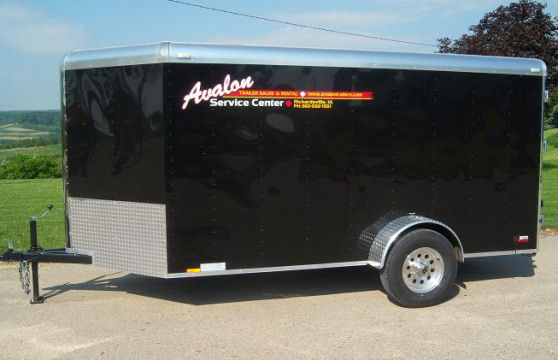 6' x 12' Black V-Nose Cargo Trailer – Avalon Service Center Trailer Rental
