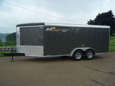 7' x 16' Charcoal V-Nose Cargo Trailer – Avalon Service Center Trailer Rental
