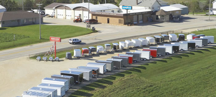 Enclosed Cargo Trailer Options and Trailers for Sale at Avalon Service Center