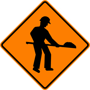 Watch out for Road Work on your way to Browse Trailers for Sale at Avalon Service Center