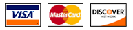 Logo of three credit card companies which Avalon Service Center accepts