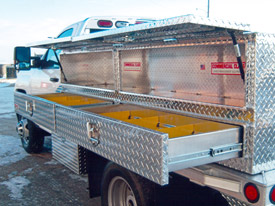 Aluminum Flatbed with Utility Containers - 3
