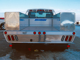 Aluminum Flatbed with Utility Containers - 4