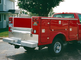 Red Utility Trailer Service Body and Truck Bed - 2